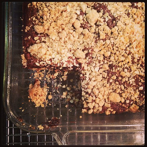 Fudgey Oatmeal Bars from @cookinglight September issue- serous fudgey-ness going on!