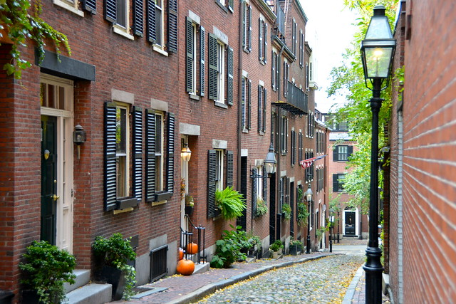 Beacon Hill in Autumn, Boston
