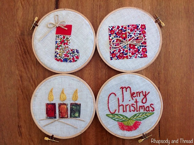 Embroider Hoop Christmas Tree by Rhapsody and Thread