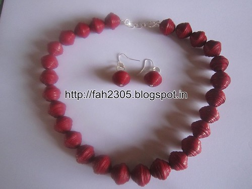 Handmade Jewelry - Round Paper Beads Set (1) by fah2305