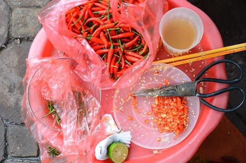 cutting the chili