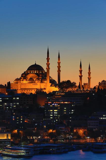 Suleymaniye Mosque at Twilight