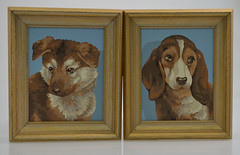 Vintage Paint by Number Dogs