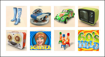 free The Groovy Sixties slot game symbols