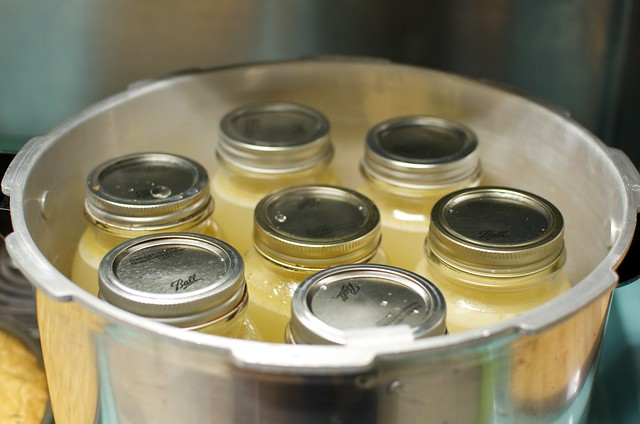 full jars in canner