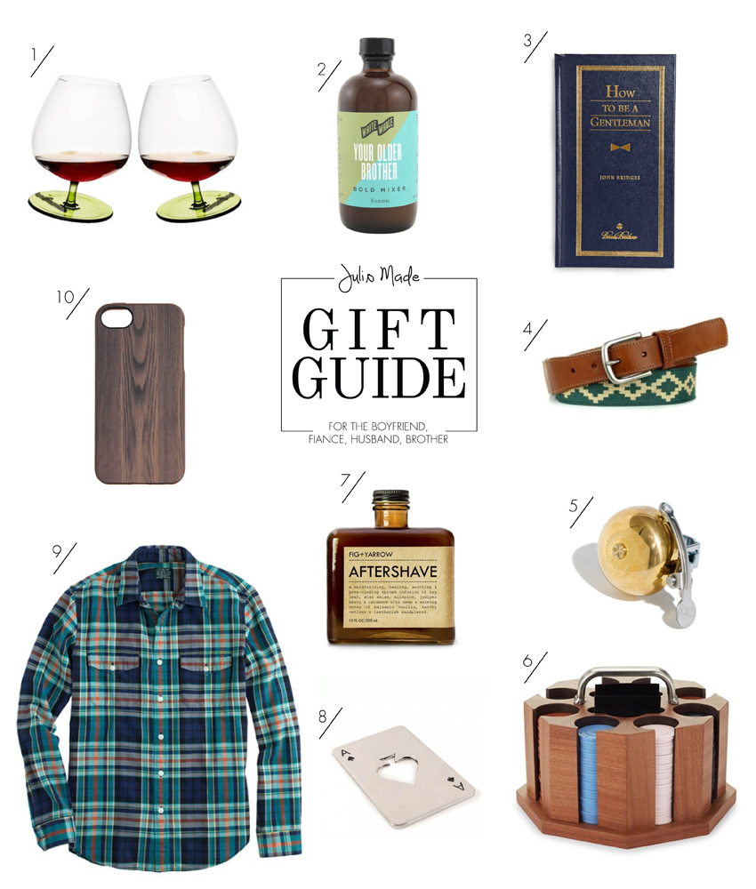 Julip Made 2013 holiday gift guide boyfriend fiance husband brother