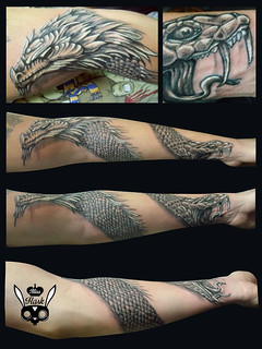 #Finishtattoo #finished #finish #tatoo #misshask #dragon #serpiente #snake