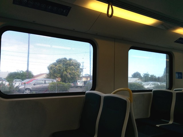 Outside advertising on trains: from the inside