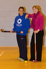 Game on Scotland ambassador,pictured L-R Holly Cram,Shona Robison.   Scotland International Hockey Player Holly Cram announced today (December, 12) as the first ambassador for Game on Scotland - the national education programme for Glasgow 2014.   Flagship legacy programme, Game on Scotland uses the...