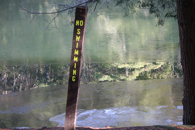 no swimming? no kidding!