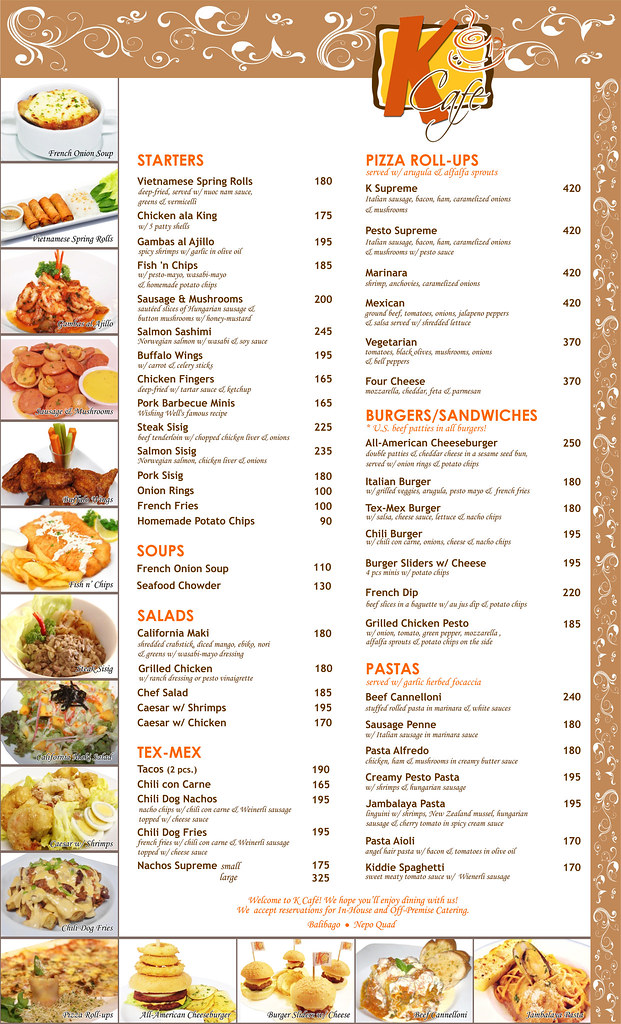 Teaspoon Cafe Angeles City Menu