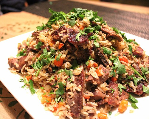 Uzbeki Lamb Pilaf (Plov)