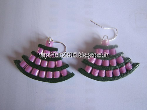 Handmade Jewelry - Paper Quiilling Egyptian Earrings (Free Form Quilling) (2) by fah2305