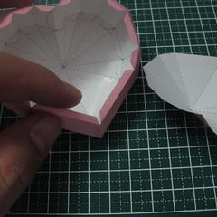 วิธีทำของเล่นโมเดลกระดาษรูปหัวใจ 015