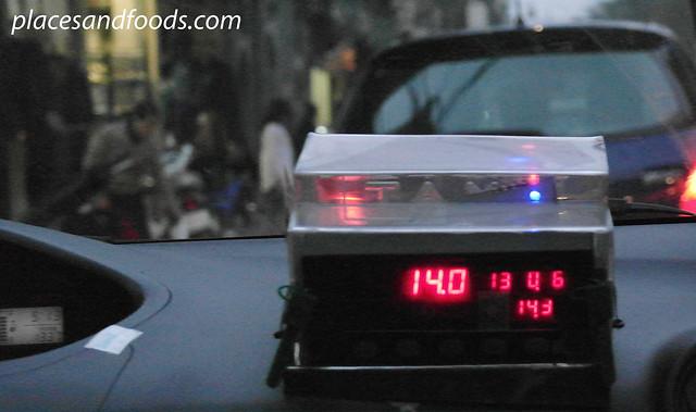 hanoi bizarre taxi meter