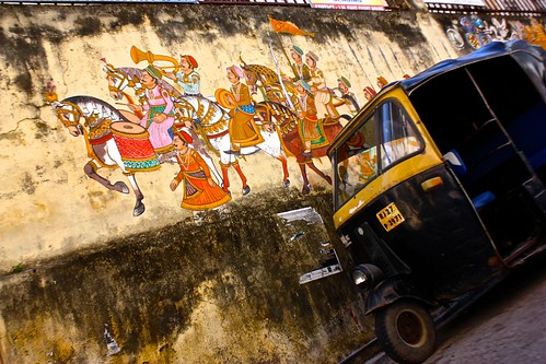Street art and auto rickshaw