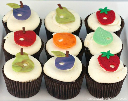 A Very Hungry Caterpillar Birthday Party - Fruit Cupcakes