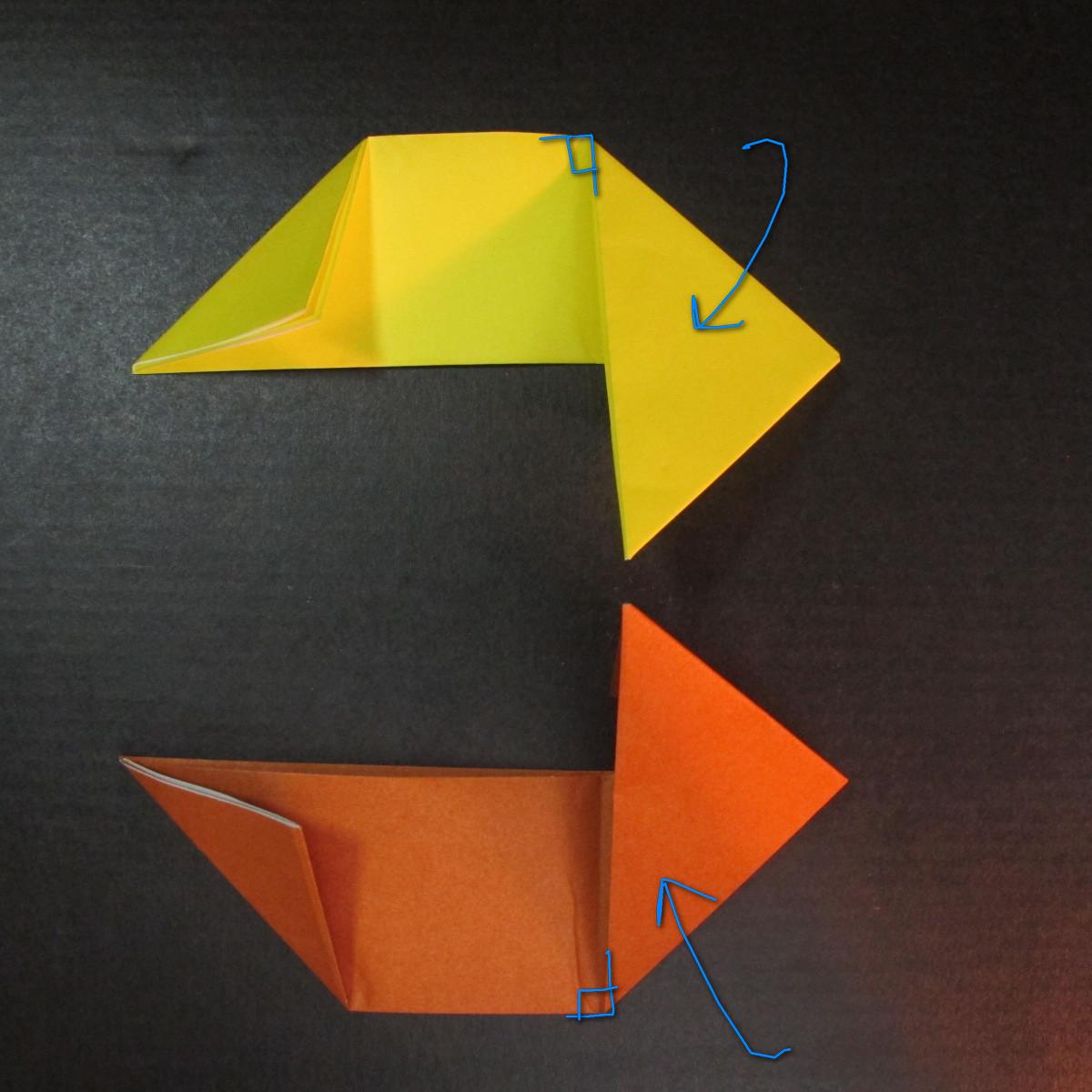 สอนวิธีพับกระดาษเป็นดาวกระจายนินจา (Shuriken Origami) - 005