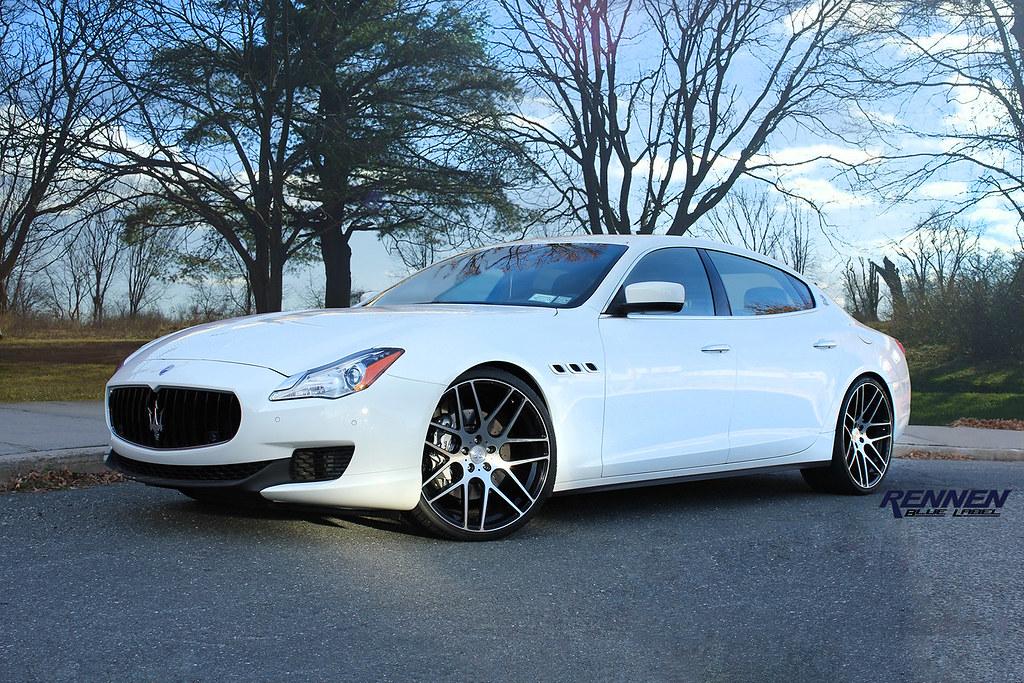 Rennen Blue Label Concave Wheels On 2014 Maserati