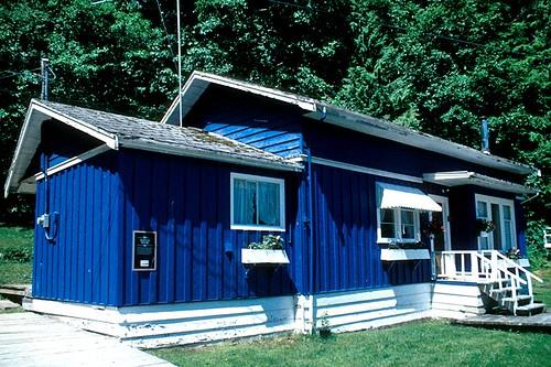 Burton House (1929) in Telegraph Cove, Vancouver Island, British Columbia, Canada