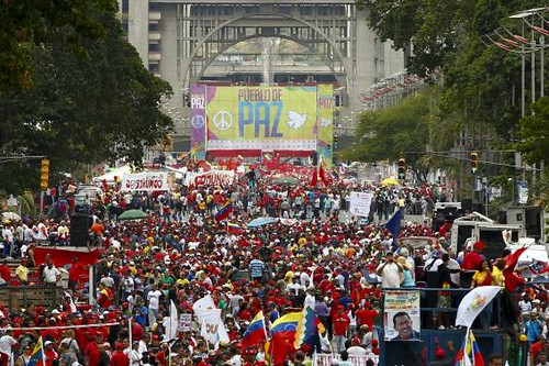 Bolivarian defense of the Venezuelan Revolution in Feb. 2014. The rally was designed to defend the government of Nicolas Maduro. by Pan-African News Wire File Photos