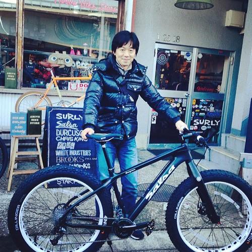 Salsa cycles Beargrease fatbike納車させて頂きました。大変長らくお待たせしました。次回はグルメ納車ライドしましょう^ ^ #salsacycles #fatbike #mukluk #beargrease