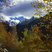 Autumnal scenery at Soglio with Sciora, Piz Cengalo and Piz Badile by Bernhard_Thum