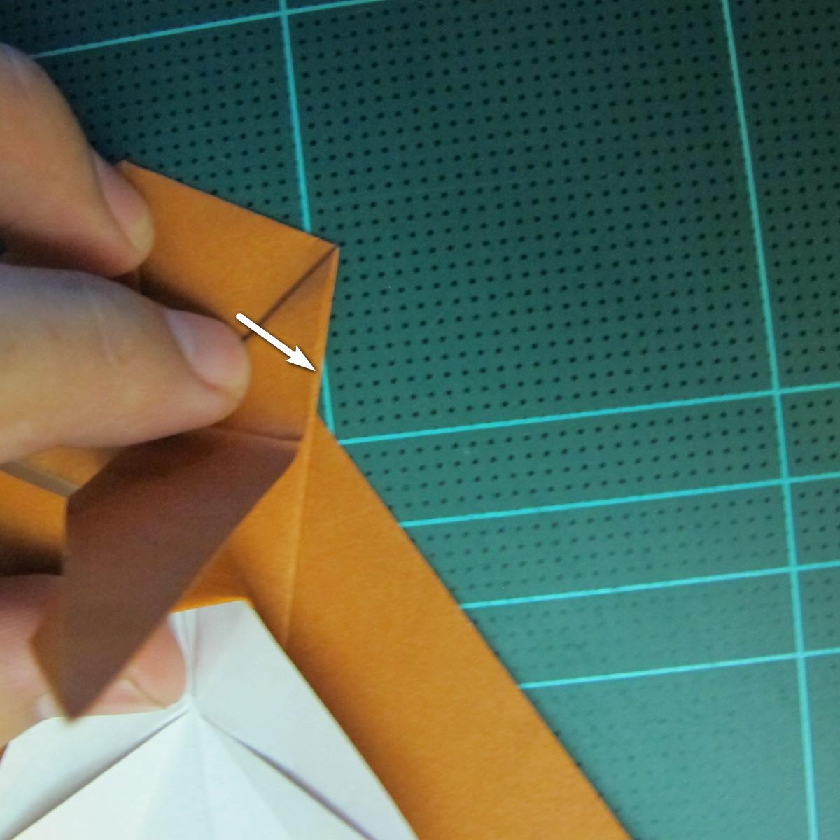 วิธีการพับกระดาษเป็นรูปกบ (แบบโคลัมเบี้ยน) (Origami Frog) 028