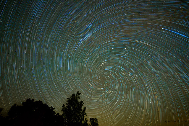 Vortex star trails