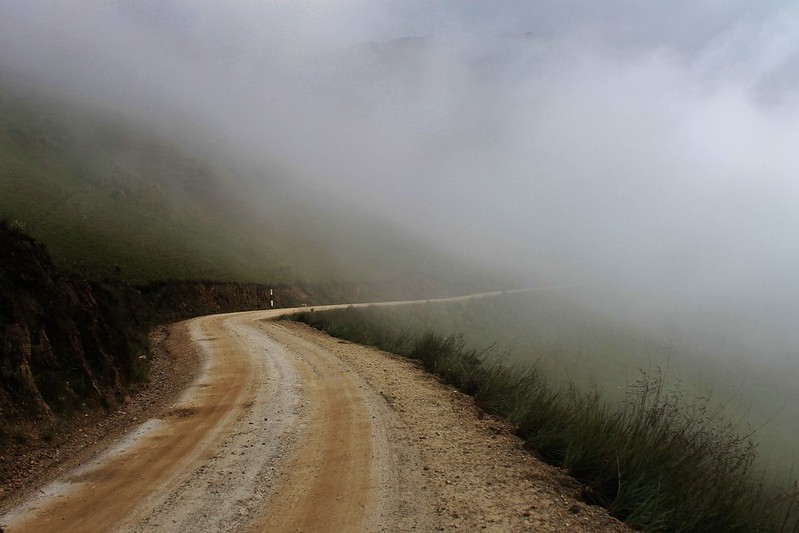 Into the cloud, on the descent to Tarica