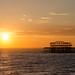Brighton pier at dusk.
