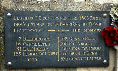 GUILLOTINE VICTIMS. Picpus Cemetery, Paris, France