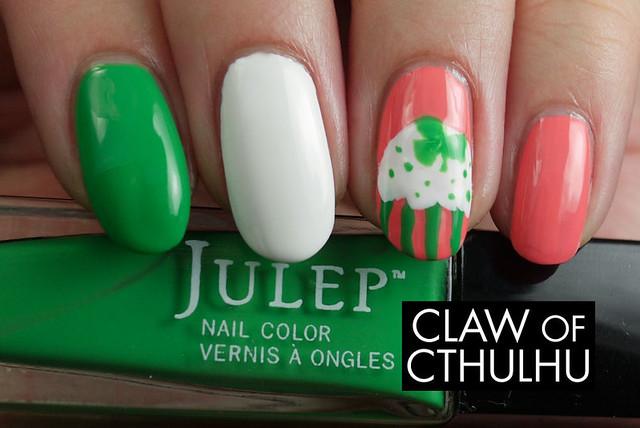 Julep Irish Flag (Teri, Nicolette, Payton) Cupcake Nail Art