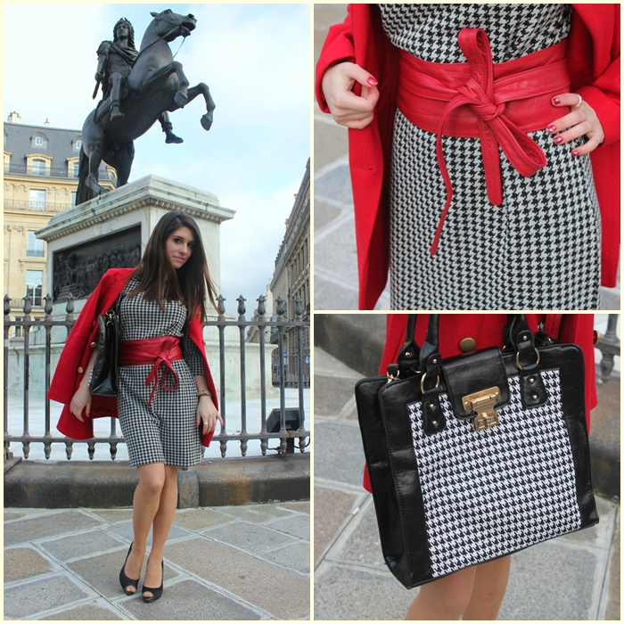 fashion, fashion blog, fashion blogger, Paris, place des victoires, houndstooth, streetstyle, pata de gallo