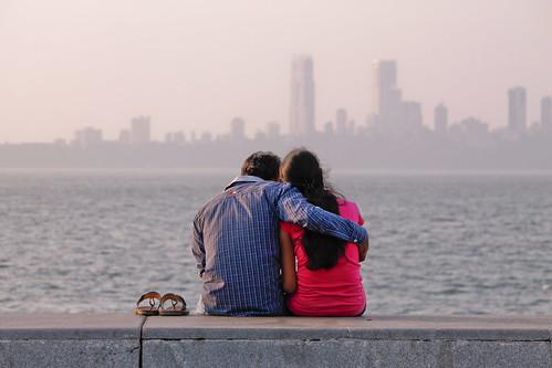 sunset india bombay maharashtra mumbai costanera malecón