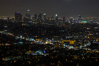 The Los Angeles Night Skyline