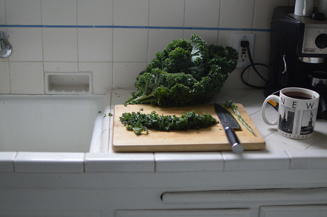 kale chopping