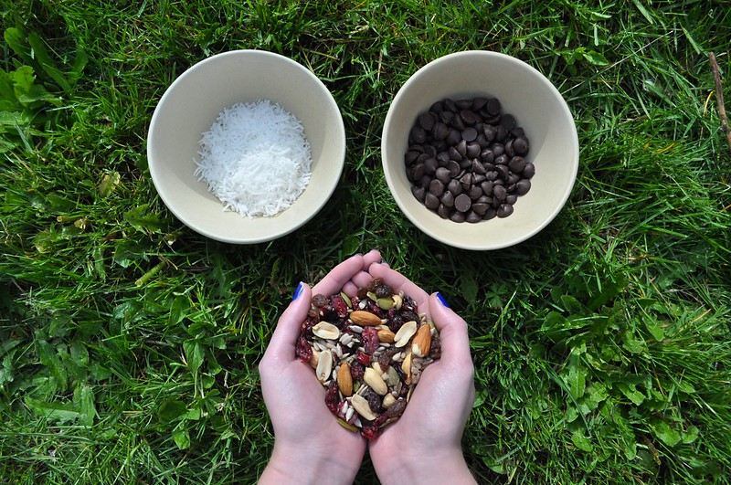 Chocolate Drizzled Trail Mix Ingredients