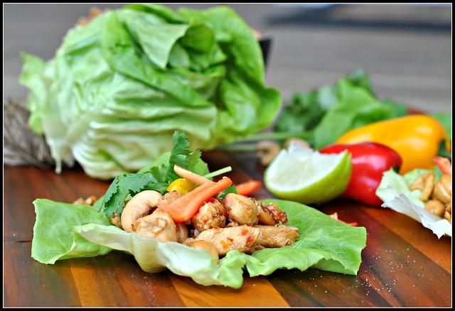 Cashew Chicken Lettuce Wraps 4