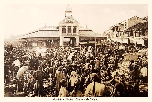 Marché de Cholon (Environs de Saigon)