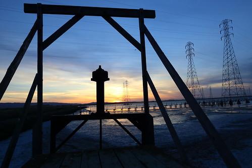 california sunset silhouette canon baylands utilitylines 5dmarkiii
