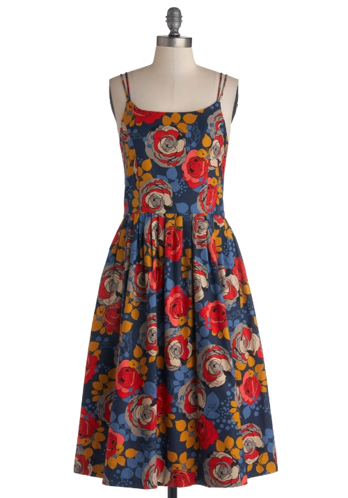 modcloth High Socie-tea Dress in Floral