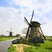 The historic Doeshofmolen and Achthovense windmill in the wetlands of Zuid Holland by B℮n