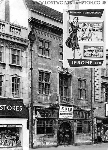 The doorway which led upstairs to Jeromes Photographic studio , Dudley Street 1950's