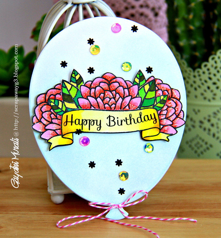 Happy Birthday balloon card1