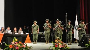 honores a la bandera graduación