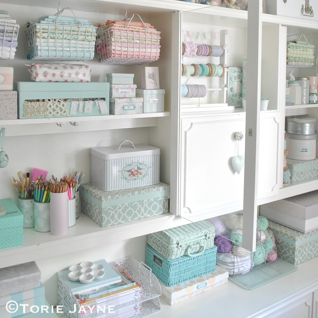 Pretty Craft room storage