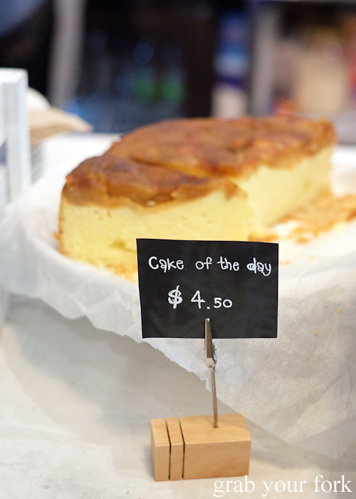 Cake of the day at Cafe Oratnek, Redfern