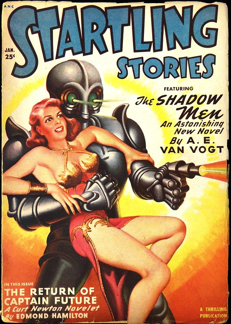 Startling Stories Vol. 20, No. 3 (Jan., 1950). Cover Art by Earle Bergey
