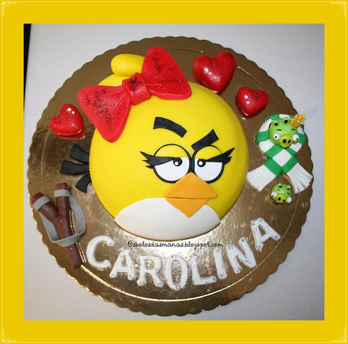Bolo Angry Birds- Pretty Bird II by Osbolosdasmanas